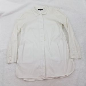 Lafayette 148 Top Shirt Work Tunic Women 8 White C